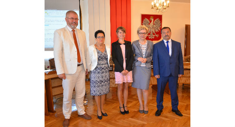 Michał Pęziak, Krystyna Bartecka, Agnieszka Kuźmińska, Dorota Dokładna i Włodzimierz Osuch – fot. Grzegorz Smoliński