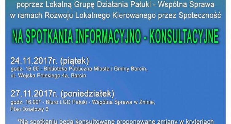 Plakat informacyjny LGD Pałuki - Wspólna Sprawa