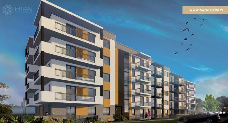 Wizualizacja osiedla Apartamenty Barcin - MIRAI Development