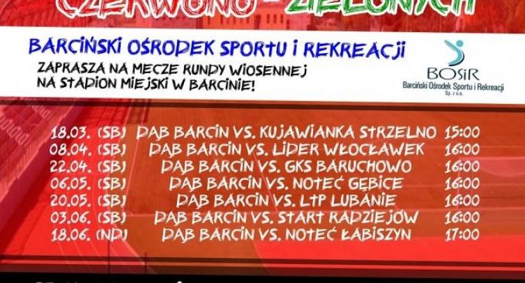 """Runda wiosenna LKS """"Dąb"""" Barcin"""